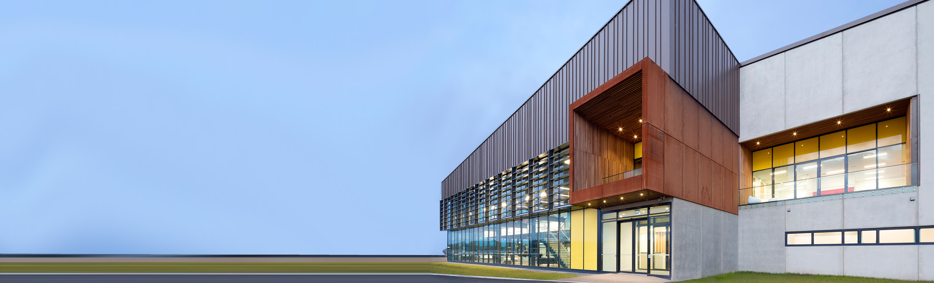 The new Cubro Building in Tauranga. We manufactured the corten steel panels around the balconies.