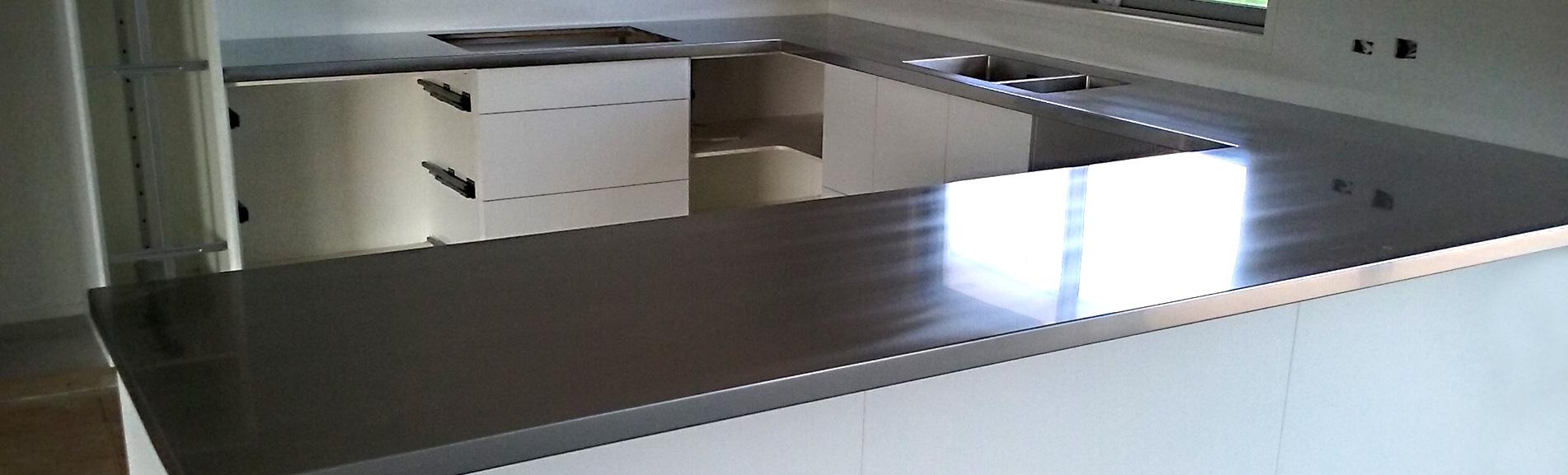 Large U shaped kitchen bench